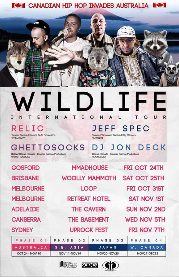 Wild Life Tour flyer Loop-Meyers Place