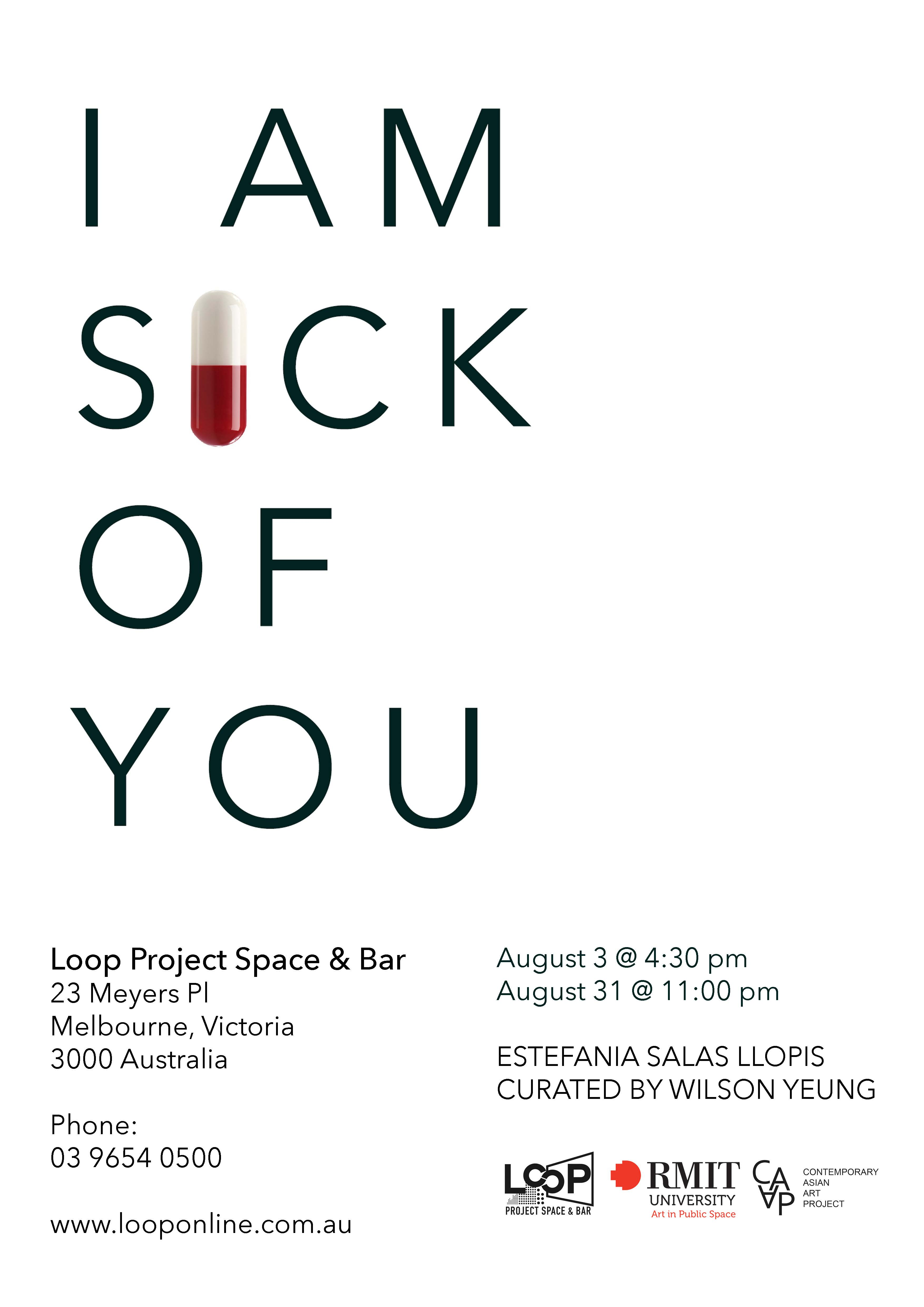 Loophole i am sick of you loop project space bar loophole i am sick of you altavistaventures Gallery