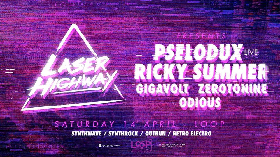 Laser Highway w Pselodux & Ricky Summer Live / Gigavolt