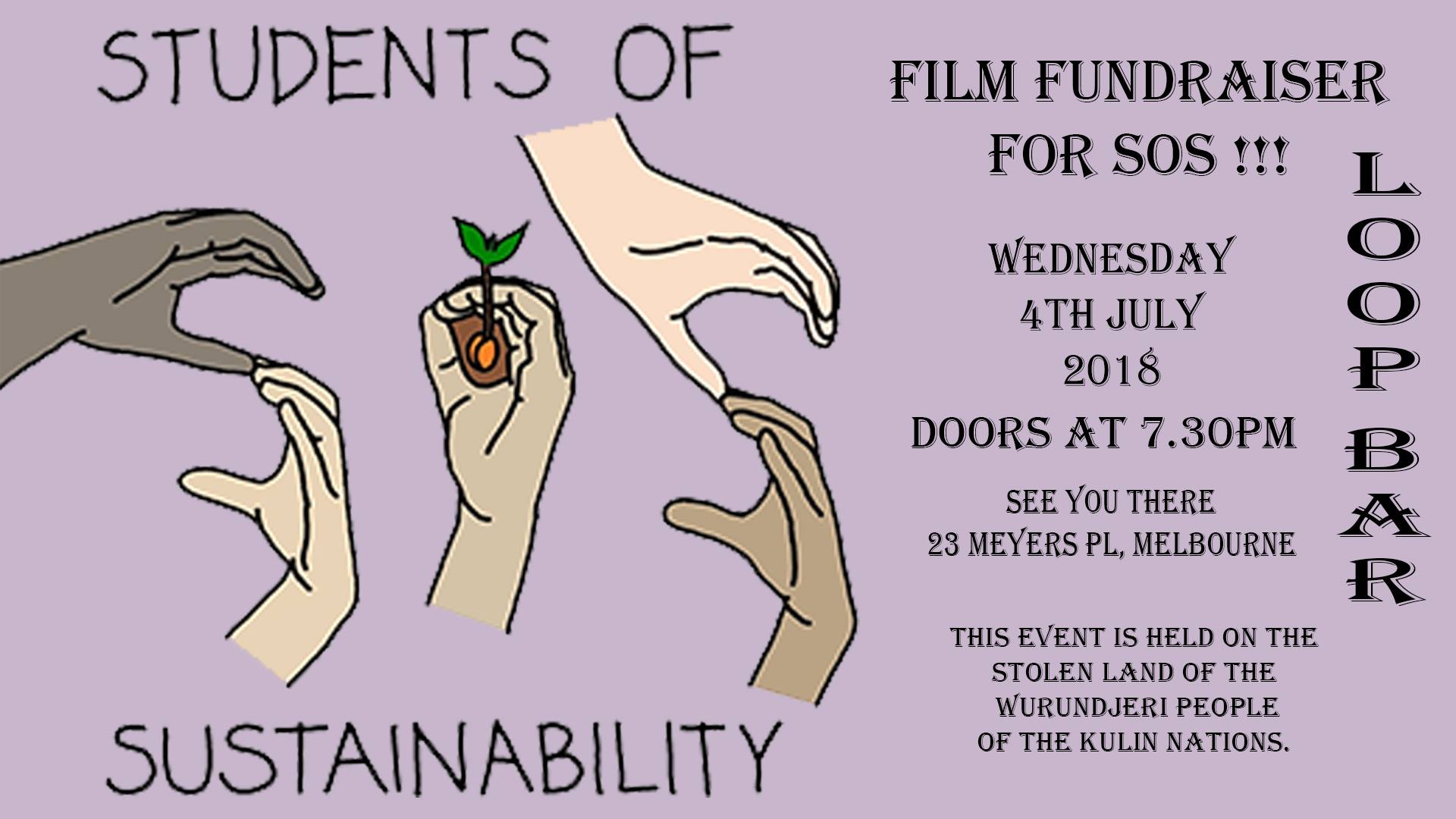 Film Fundraiser students of sustainability at loop project space and bar venue melblourne