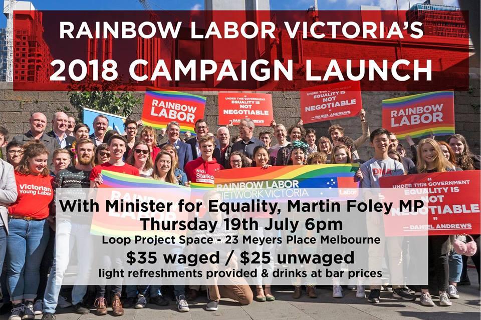 Rainbow Labor Launch LOOP Melbourne Venues