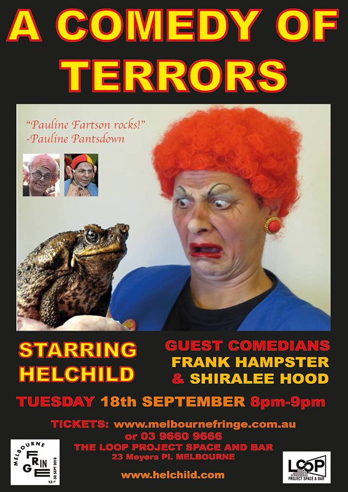 fringe-festival-comedy-of-terrors at LOOP Project Space and Bar Melbourne CBD