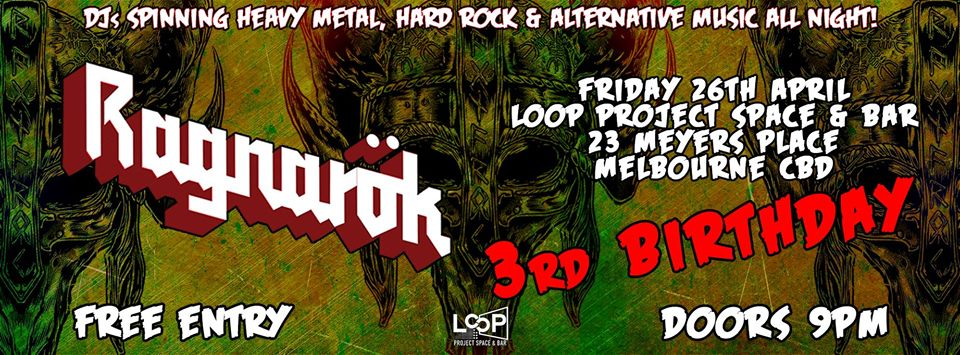 Ragnarök - Metal / Alternative Nightclub (3rd Birthday Party)