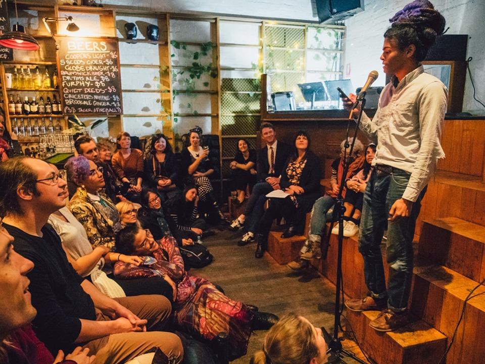 Disposable Poetry Slam loop bar melbourne